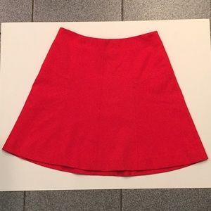 Loft red/orange A line skirt
